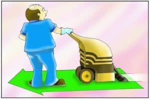 Limpeza Carpetes com Extratora