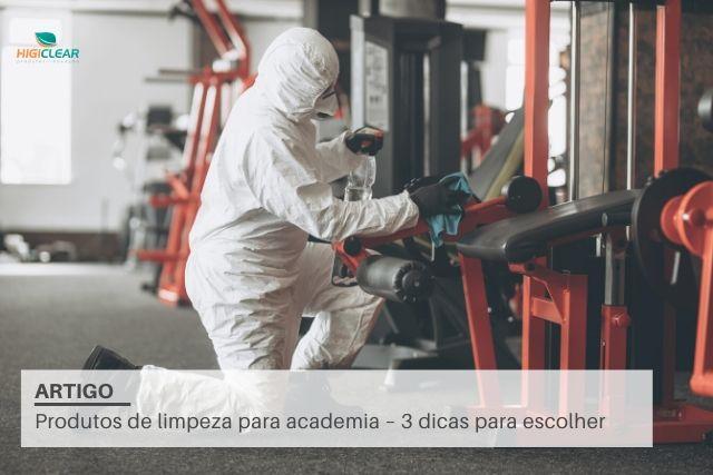 Produtos de limpeza para academia