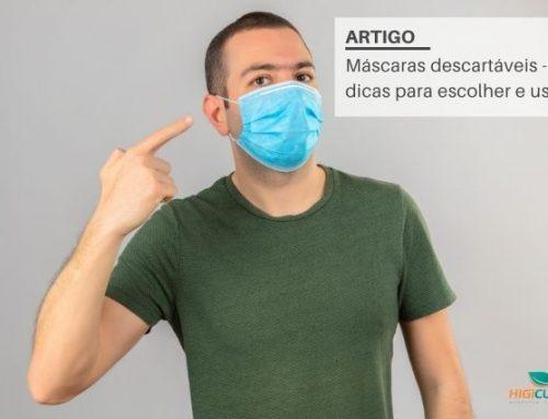 Máscaras descartáveis – 5 dicas para escolher e usar