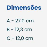 Dimensões do Dispenser Sabonete Líquido